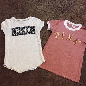 2 PINK Tee Shirts
